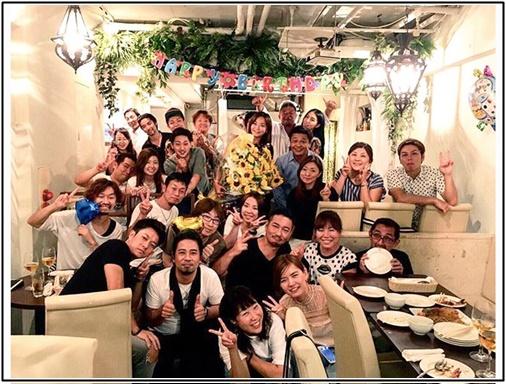華原朋美の誕生日会の画像
