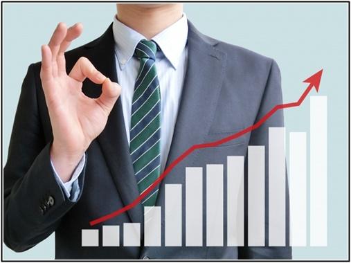 株価上昇の画像
