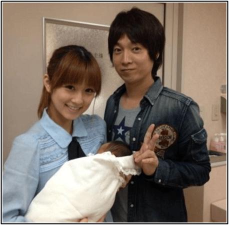 小倉優子と旦那と子供の画像