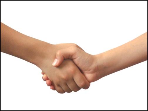 握手の画像