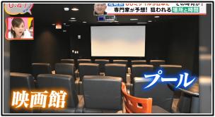 アメリカ核シェルターの中の映画館の画像