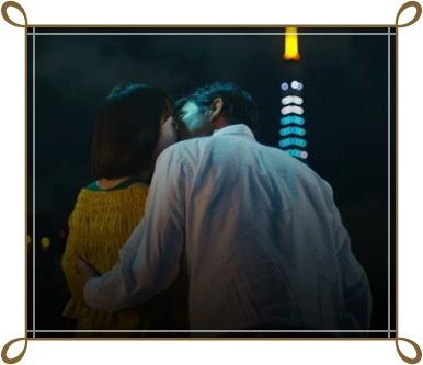 パパ活ドラマ、杏里と栗山のキスシーン画像