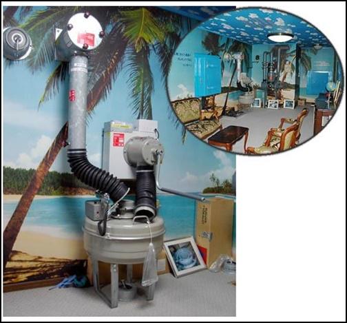 核シェルタープランニングさんの空気ろ過装置画像