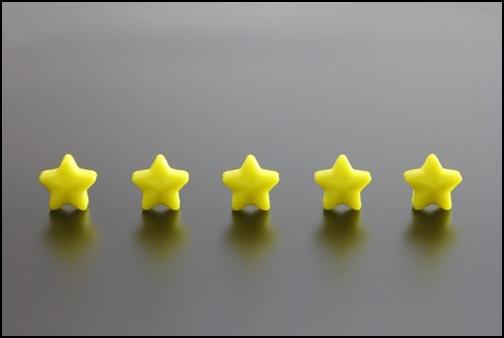 五つ星の画像