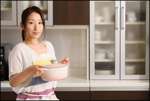 料理女子の画像