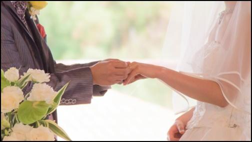 結婚指輪交換の画像