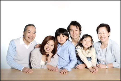 家族写真の画像
